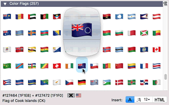 Apple Color Emoji flags