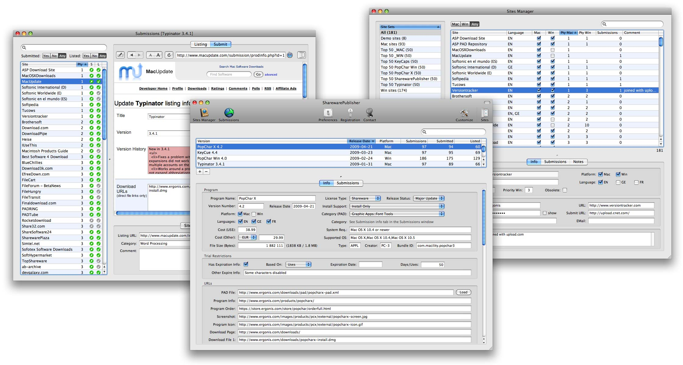 Shareware submission tool and PAD file generator for Mac OS X